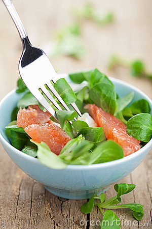 Fresh Salad With Grapefruit Stock Image - Image: 22892231
