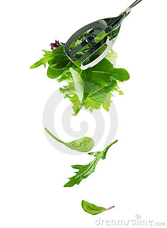 Free Fresh Salad Leaves Fall Down Royalty Free Stock Photos - 315788