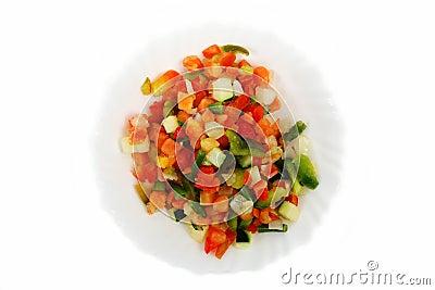 Fresh salad - pepper mix