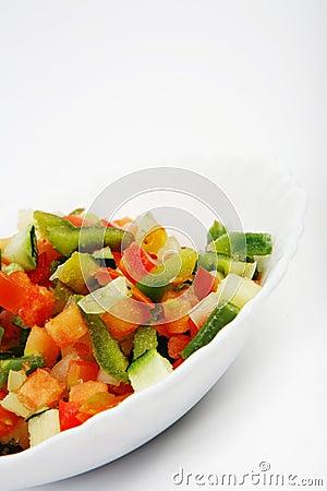 Free Fresh Salad - Pepper Mix Stock Photo - 7984620