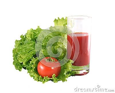 Fresh salad and tomato.