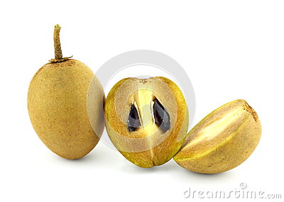 Fresh Sapodilla fruits