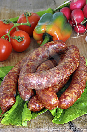 Free Fresh Sausages Royalty Free Stock Image - 8676206