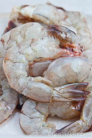 Fresh shrimp for cooking