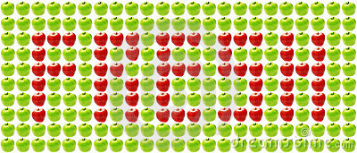 Fresh: sign made of apples