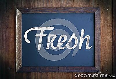 Fresh sign