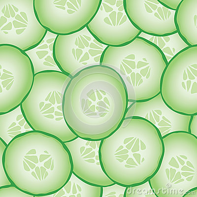 Free Fresh Sliced Cucumbers Seamless Pattern Royalty Free Stock Images - 54470599