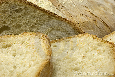 Fresh sliced Italian bread