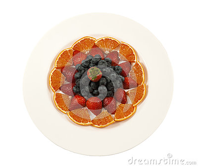 Plate with fresh fruit