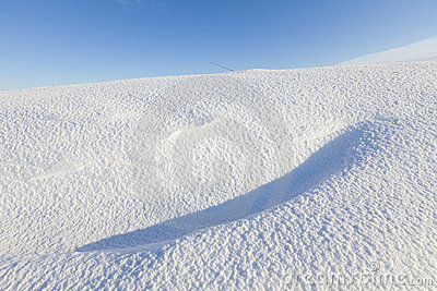 Fresh snow dunes in winter
