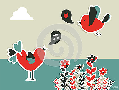 Fresh social media birds communication