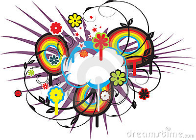 Fresh spring cloud vector