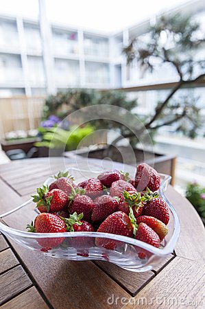Fresh strawberries on a table
