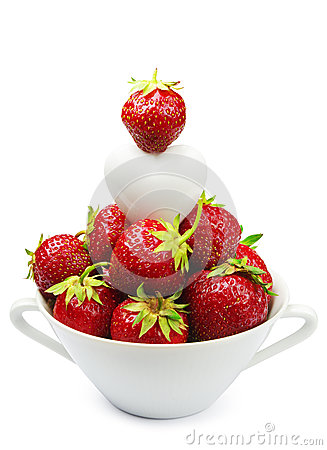 Fresh strawberry and heart
