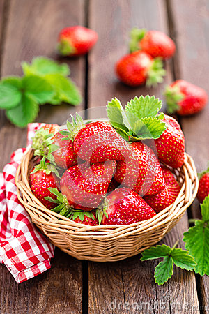 Free Fresh Strawberry In Basket Royalty Free Stock Photography - 93272597