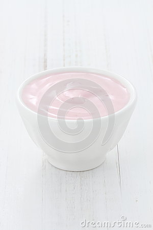 Fresh strawberry yogurt