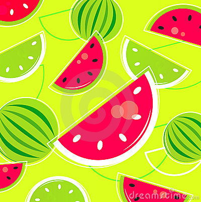 Fresh Summer Melon retro background / pattern
