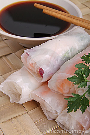 Fresh summer spring roll