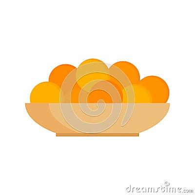 Free Fresh Tangerines Oranges On Plate Vector Illustration. Stock Photos - 84518483