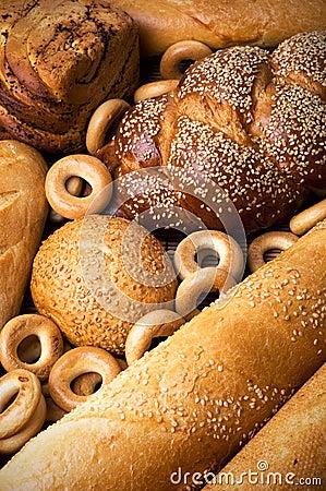 Fresh tasty bread still life