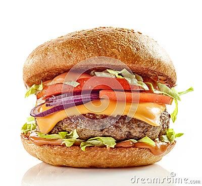 Free Fresh Tasty Burger Royalty Free Stock Photography - 88745467
