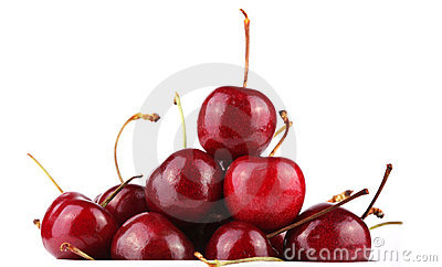 Fresh tasty cherries