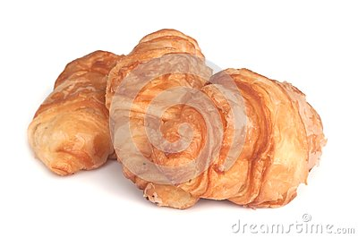 Fresh and tasty  croissant .