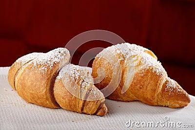 Fresh and tasty croissants