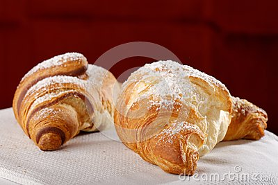 Fresh and tasty croissants