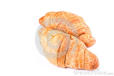 Fresh and tasty French croissants