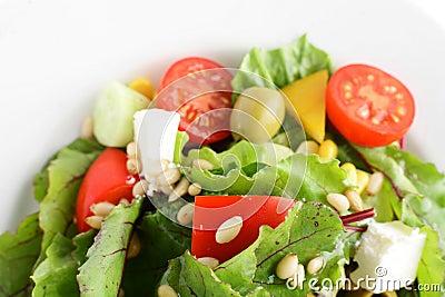 Fresh and tasty vegetables salad