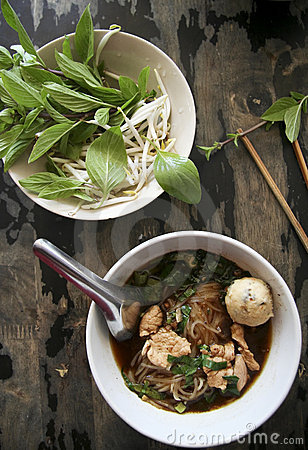 Free Fresh Thai Pork Noodle Soup Kway Teow Royalty Free Stock Images - 7665429