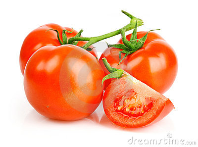 Fresh tomato fruits with cut