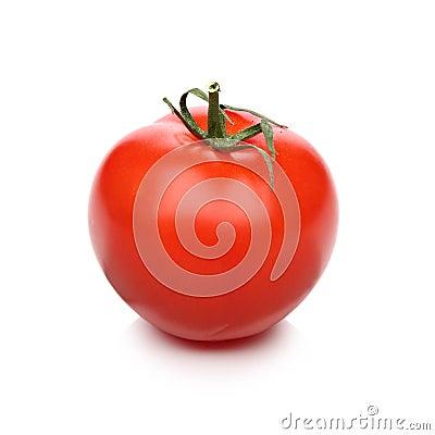 Fresh tomato, isolated on white background
