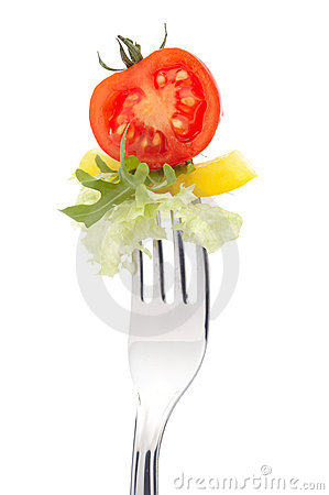 Fresh tomato and salad