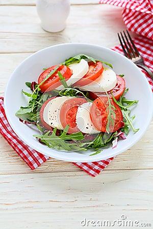 Free Fresh Tomato Salad With Mozzarell Stock Images - 40998974