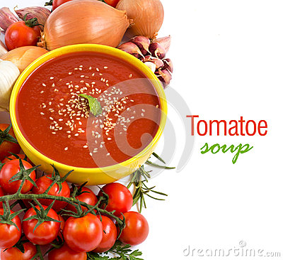 Free Fresh Tomatoe Soup Royalty Free Stock Image - 45698426