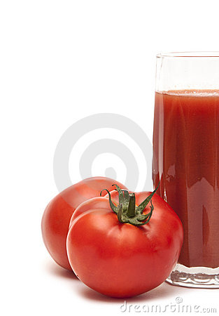 Free Fresh Tomatoes And A Glass Full Of Tomato Juice Stock Photo - 17430360