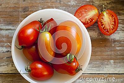 Fresh Tomatoes in White Bowl