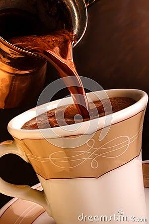 Free Fresh Turkish Coffee. Stock Image - 9893051