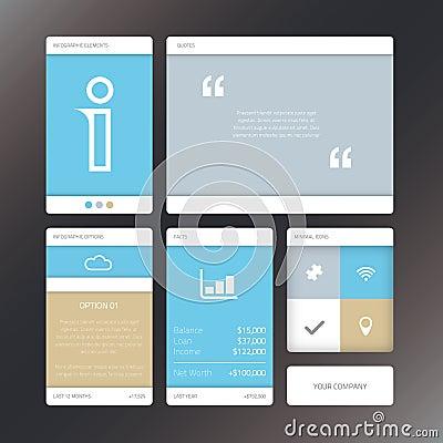 Fresh vector illustration minimal infographic flat