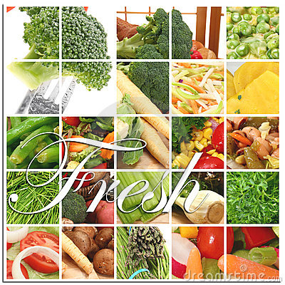 Fresh Vegetable Collage