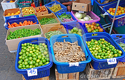 Fresh Vegetable Produce in Local Market