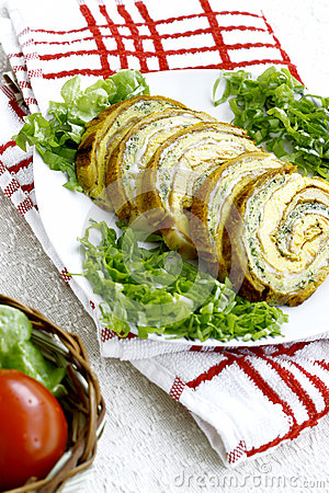 Fresh vegetable roulade