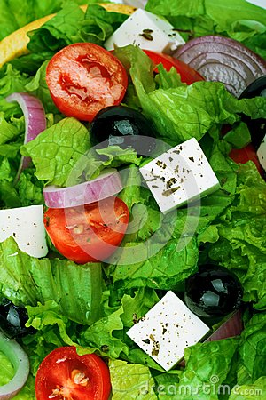 Free Fresh Vegetable Salad (greek Salad). Royalty Free Stock Photo - 40261165