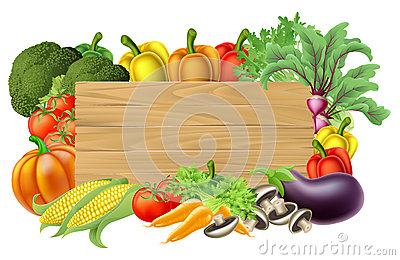 Fresh Vegetable Sign Vector Illustration
