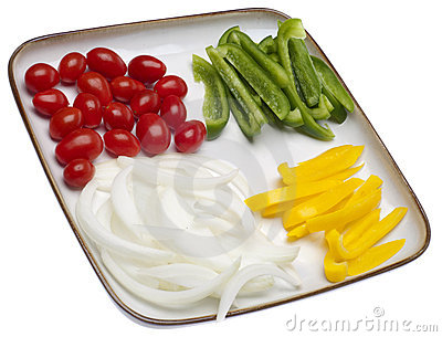 Fresh Vegetable Slices on a Plate