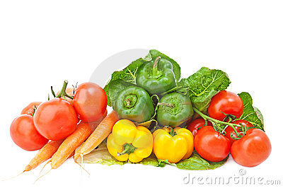 Fresh vegetables .