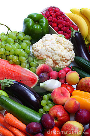 Free Fresh Vegetables And Fruits Stock Image - 10391921