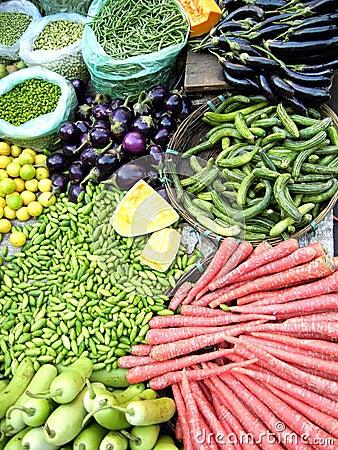 Fresh Vegetables in a Farmers Market